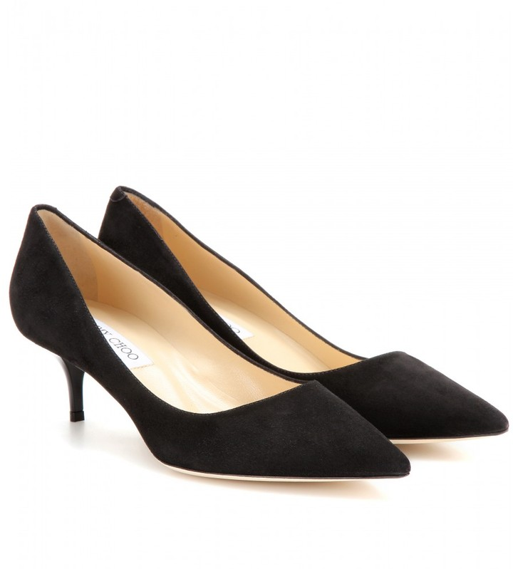 Jimmy Choo AZA SUEDE PUMPS