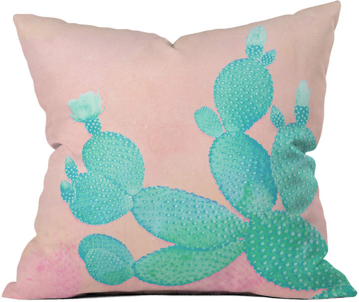 Kangarui Pastel Cactus Throw Pillow