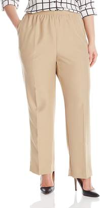Alfred Dunner Womens Plus Average Pant, Beige,W