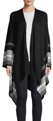 Calvin Klein Ruana Striped Hem Cardigan