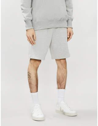 Sandro Drawstring-waist cotton-blend jersey shorts