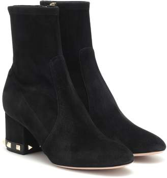 Valentino Rockstud 60 suede ankle boots
