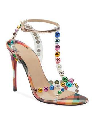 ee2e4830df9b Christian Louboutin Faridavavie See-Through Vinyl Patent Red Sole T-Strap  Sandals