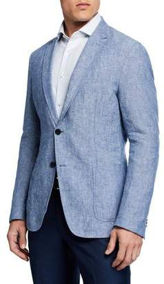 BOSS Men's Washed Linen Sport Coat