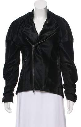 Baja East Ponyhair Moto Jacket