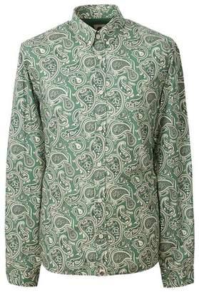 Pretty Green Slim Fit Paisley Print Shirt