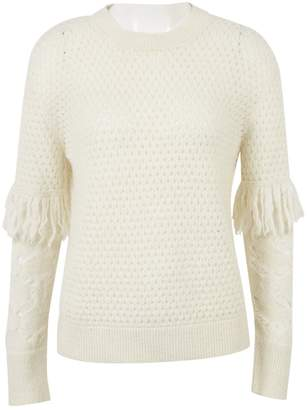 Tanya Taylor White Cashmere Knitwear