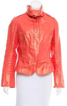 Lafayette 148 Metallic Linen Jacket