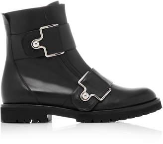 Bally Gabiria Leather Moto Boot