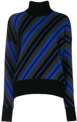 Marni diagonal striped turtleneck sweater