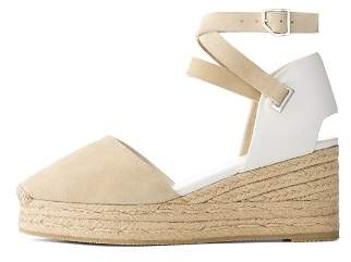 Rag & Bone Women's Kea Suede & Leather Platform Wedge Espadrilles