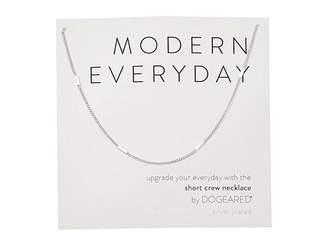 Dogeared Modern Everyday, Short Crew Neck Necklace