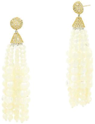 Freida Rothman Fleur Bloom Empire Mother-of-Pearl Fringe Drop Earrings