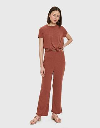 Farrow Vina Ribbed Jumpsuit in Rust