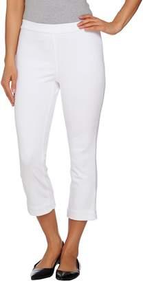 Isaac Mizrahi Live! Regular Knit Denim Pull-On Crop Jeans