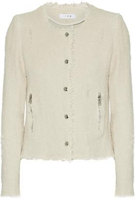 IRO - Frayed Cotton-tweed Jacket - Ecru $580 thestylecure.com