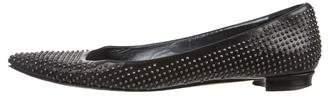 Manolo Blahnik Leather Studded Flats