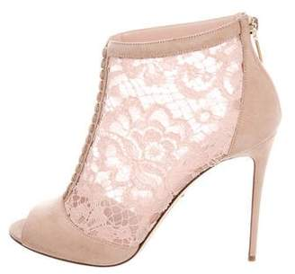 Dolce & Gabbana Suede Lace Ankle Boots w/ Tags