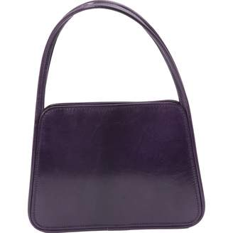 Lulu Guinness Vintage Purple Leather Handbag