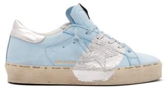 Golden Goose Super Star Low Top Leather Trainers - Womens - Light Blue