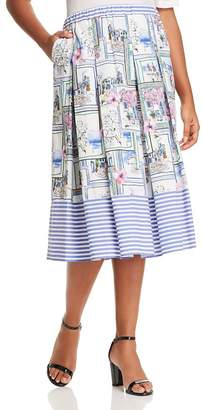 Marina Rinaldi Carracci Pleated Skirt