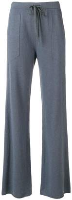 Fabiana Filippi drawstring flared trousers