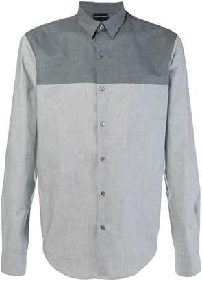 Emporio Armani panelled shirt