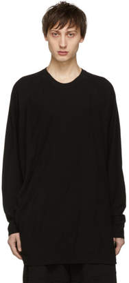 Julius Black Draping Long Sleeve T-Shirt