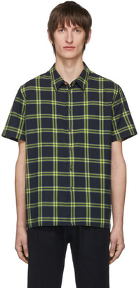 Paul Smith Black Check Regular Fit Short Sleeve Shirt