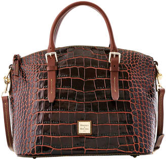 Dooney & Bourke Croco Fino Domed Satchel