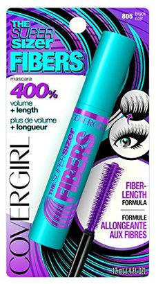 CoverGirl The Super Sizer Fibers Mascara, Black, 0.028 Pound $6.99 thestylecure.com