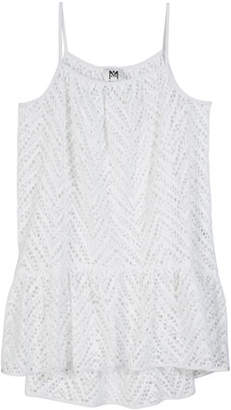 Milly Minis Chevron Crochet High-Low Coverup, Size 7-16