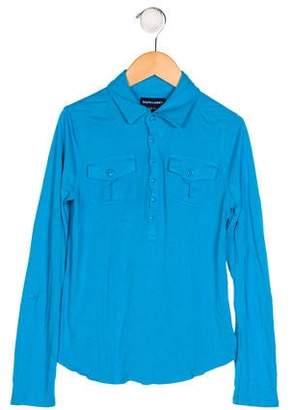 Ralph Lauren Girls' Long Sleeve Collar Top