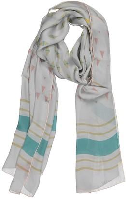 Valentino Blue Silk Scarves