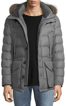 Moncler Rethel Fur-Trim Puffer Coat