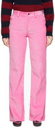 Marc Jacobs Pink Corduroy Flared Trousers