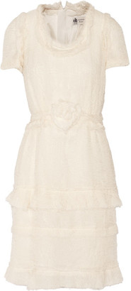 Lanvin - Tiered Crinkled Silk-chiffon Dress - Ecru $4,610 thestylecure.com