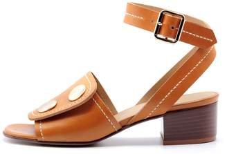 Lou.Earl Fialta Leather Sandals In Cognac