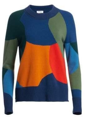 Akris Punto Multicolor Intarsia Wool& Cashmere Sweater