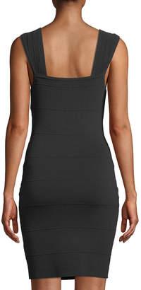 GUESS Paneled Bandage Body-Con Dress