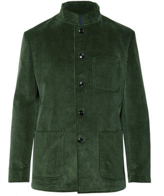 Piombo MP Massimo Dark-Green Cotton-Corduroy Suit Jacket