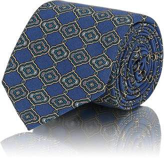 Tie Your Tie Men's Medallion-Print Silk Necktie