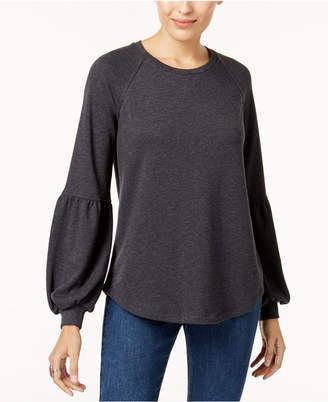 Style&Co. Style & Co Bishop-Sleeve Sweatshirt, Created for Macy's