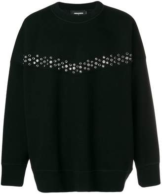 DSQUARED2 embellished jersey sweater
