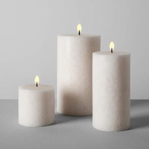 Hearth & Hand with Magnolia Pillar Candle - Sugared Birch