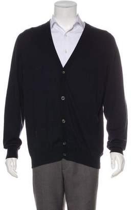 Maison Margiela Leather-Accented Cardigan