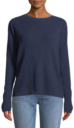 Eileen Fisher Ribbed Long-Sleeve Cashmere Sweater, Plus Size