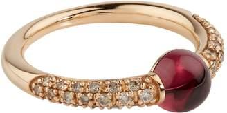 Pomellato Rose Gold, Garnet and Diamond M'ama Non M'ama Ring