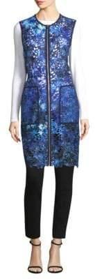Elie Tahari Chloe Long Lace Vest