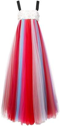 Carolina Herrera beaded bust tulle gown